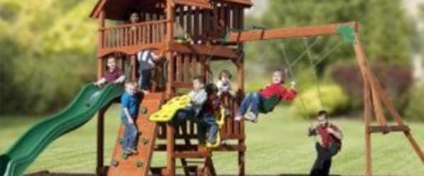 Headline for Best Wooden Outdoor Swing Sets for Kids