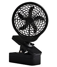 O2 Cool 5 Inch Battery Operated 5 Portable Clip Fan