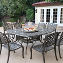 Darlee Nassau 8-person Cast Aluminum Patio Dining Set With Lazy Susan - Antique Bronze