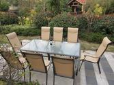 9pc Cast Aluminum Sling Patio Furniture Set