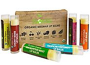 USDA Organic Lip Balm by Sky Organics – 6 Pack Assorted Flavors –- With Beeswax, Coconut Oil, Vitamin E. Best Lip Plu...