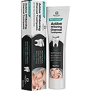 Activated Charcoal Teeth Whitening Toothpaste - DESTROYS BAD BREATH - Best Natural Black Tooth Paste Kit - MINT FLAVO...