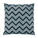 ZigZag (black) chevron embroidered throw pillow