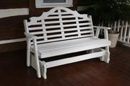 Outdoor 4' Marlboro Porch Glider - Painted- Amish Made USA -White