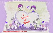 Download I Love u dad Wallpaper free