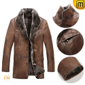 Shearling Leather Coat Mens CW868801