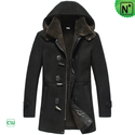 Hooded Shearling Coat for Men CW878135