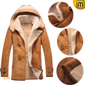 Winter Hooded Fur Leather Jacket Men CW877133