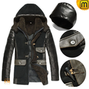 Hooded Shearling Coat for Men CW877137