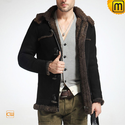 Black Shearling Jacket Men CW877138