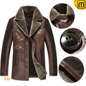Brown Shearling Sheepskin Coats CW877145