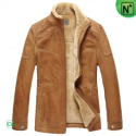 Fur Lined Mens Leather Jacket CW829120 - M.CWMALLS.COM
