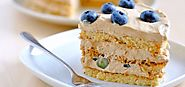 Espresso and Blueberry Buttercream Coffee Cake