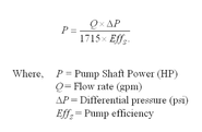 How do you calculate the power of a centrifugal pump?