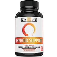 Thyroid Support Complex With Iodine - Energy, Metabolism & Focus Formula - Vegetarian, Soy & Gluten Free - 'Feel Like...