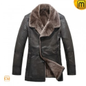 Mens Winter Fur Lined Leather Coat CW819072 - JACKETS.CWMALLS.COM