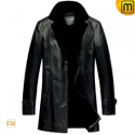 Mens Fur Lined Trench Coat CW833332 - JACKETS.CWMALLS.COM