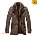 Designer Fur Lined Trench Coat For Men CW819173 - CWMALLS.COM
