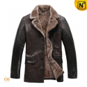 Mens Fur Lined Sheepskin Coat CW819177 - CWMALLS.COM