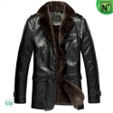 Mens Leather Fur Coats CW833337 - M.CWMALLS.COM