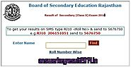 Rajasthan Board 10th Result 2014