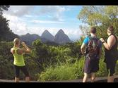 St. Lucia Caribbean Island - Hiking the Pitons