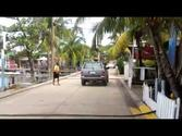 Walk down the main st in West End Roatan, Honduras