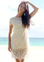 Pearls Crochet Dress - Lookbook Store