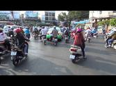 Rickshaw ride in Saigon - Ho Chi Minh City, Vietnam HD