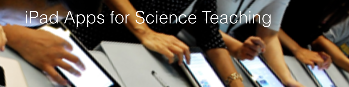 Headline for Science Teaching iPad Apps