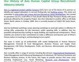 Our History of Axis Human Capital Group Recruitment