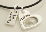 Double-sided Fingerprint Charm - Fingerprint Jewellery by Ronald
