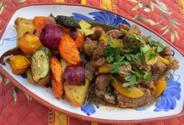 Moroccan Lamb Stew With Spiced Roasted Vegetables