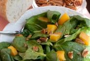 Peach & Spinach Chicken Salad