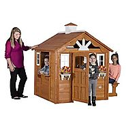 Backyard Discovery Summer Cottage All Cedar Wood Playhouse