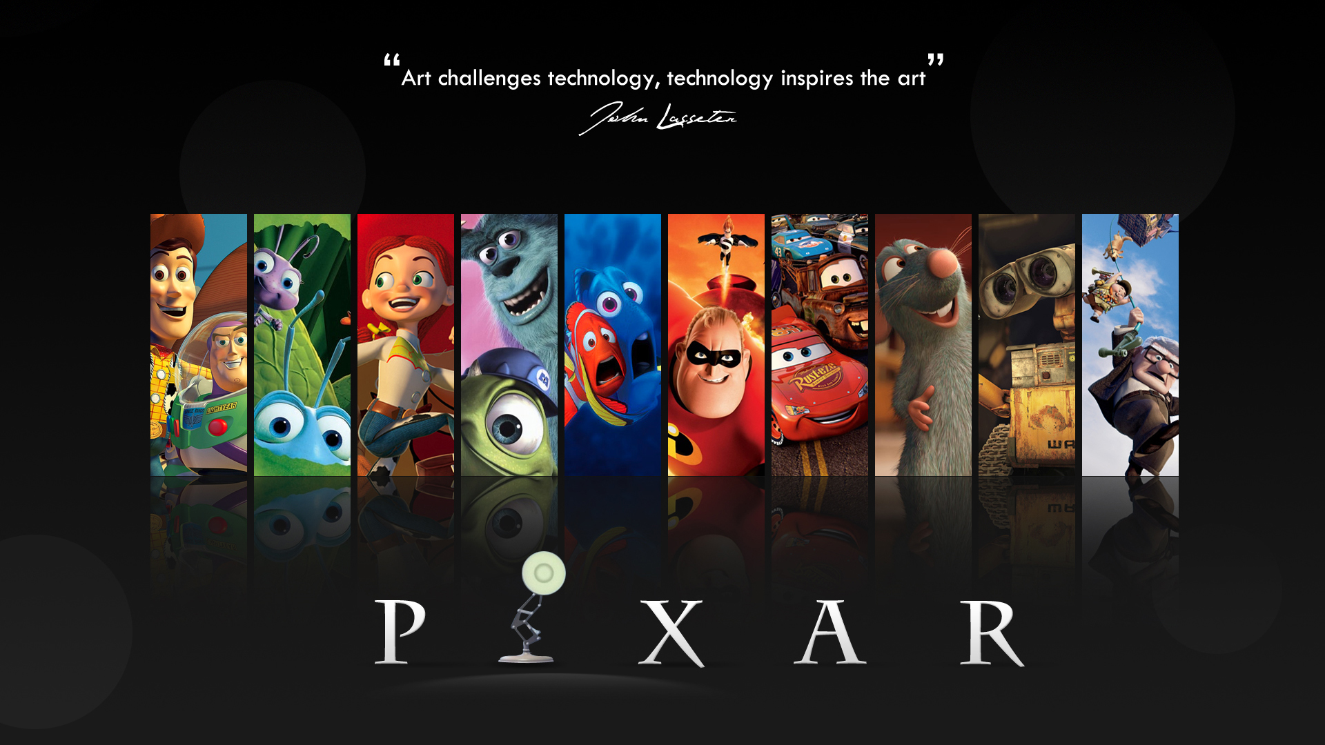 Headline for Best Pixar animated movies!