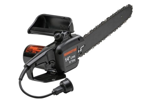 Headline for Best Chainsaw In 2014- Remington RM1415A Limb N Trim 14-Inch 8 Amp Electric Chainsaw