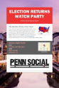 Penn Social's Election Returns Watch Party