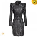 Women Black Cropped leather coats CW661006 - cwmalls.com