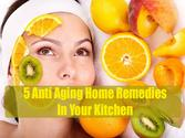 5 Anti Aging Home Remedies In Your Kitchen