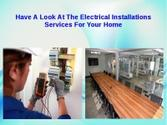 Residential or commercial electrical work