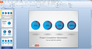 Free Project Completion Barometer Shapes for PowerPoint - Free PowerPoint Templates - SlideHunter.com