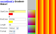 secretGeek's Gradient Maker