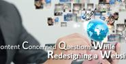 Content Concerned Questions While Redesigning a Website - Bubblews