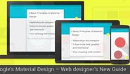 Google's Material Design - Web designer's New Guide