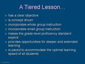 Summarize the lesson at the end and have a few students repeat what they learned and/or any assignments given.