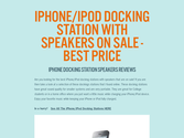 iPhone/iPod Docking Station With Speakers On Sale - Best Price