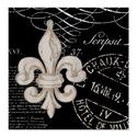 CafePress Vintage Fleur de Lis Shower Curtain - Standard White