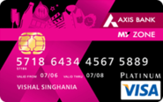 My Zone Credit Card - Axis Bank