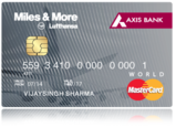 Axis bank Miles & More Credit Card